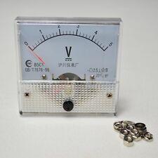 0~5V DC 85C1New  Analog Volt Voltage Panel Meter Voltmeter