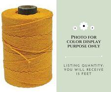 4 Ply Irish Waxed Linen Cord - Bright Yellow - 15 Feet (5 Yards) #B275