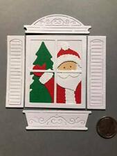 1 Santa in the Window Premade PAPER Die Cuts / Scrapbook & Card Making