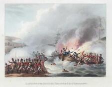 1812 ANTIQUE PRINT-Militaire Ottoman Wars Troupes Britanniques EGYPTE BATAILLE (5)