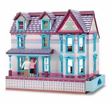NIB Melissa & Doug wooden self storing dollhouse older Victorian style