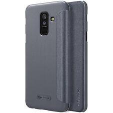 Samsung Galaxy A6 Plus 2018 Neu Schutz Hülle Tasche Nillkin Sparkle Leather Case
