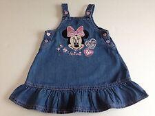 BABY GIRL'S MINNIE DENIM DRESS (DISNEY@GEORGE) 9-12 MONTHS