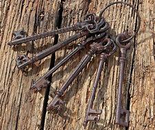 Schlüsselbund Schlüsselring Antik Stil Rost Optik Gusseisen Nostalgie Schlüssel