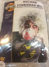 Gray Green Nuclear Zombie Wig Retro Style Biohazard Radioactive Ghastly