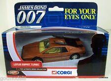CORGI 1/36 - TY04702 LOTUS ESPRIT TURBO FOR YOUR EYES ONLY JAMES BOND 007