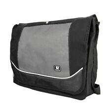 """Black Canvas Laptop Shoulder Messenger Bag For 15.6""""16"""" Dell HP Lenovo Acer Asus"""