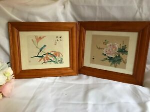 Chinese Original Water Colour Painting Peony Flower or Bird