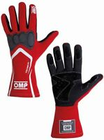 FIA OMP Race Gloves TECNICA-S Racing Rally RED XS S M L XL Tecnica S