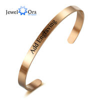 Personalised Bangle Engrave Name Promise Bracelets Bangles Unique Gift For Women