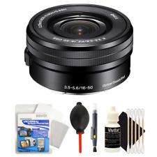 Sony SELP1650 16-50mm Power Zoom Lens with Top Accessory Bundle