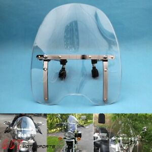 Clear Motorcycle Windshield for Honda Magna Shadow Spirit 600 750 1100 1969-2017