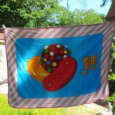 CANDY CRUSH PLUSH THROW BLANKET 46 X 60 Pink COUCH