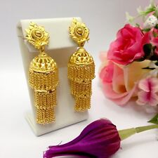 Indian Asian Bridal Jewellery Party Ethnic Wear 22k Gold Plated Jhumka Earrings