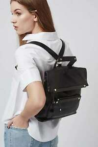 TOPSHOP Fold Over Backpack black new with tags
