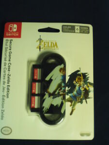 NINTENDO SWITCH SECURE GAME CASE~ZELDA BREATH OF THE WILD EDITION~NIP~STORES 6