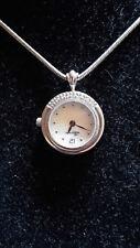 Damen Ketten Uhr Silber Edelstahl , Schlangenkette/925 Silber/rhodiniert
