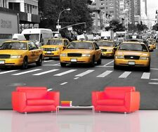 NEW YORK CITY YELLOW CABS TAXIS  MANHATTAN Photo Wallpaper Wall Mural 335x236cm