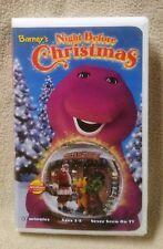BARNEY Purple Dinosaur VHS Videos Barney's NIGHT BEFORE CHRISTMAS Actimates VGC