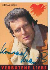National Konrad Krauss Verbotene Liebe Autogrammkarte Original Signiert # Bc 139842 Original, Unzertifiziert