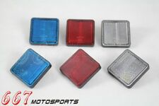 Motorcycle Square Reflector Side Marker Universal For Trailer Truck Boat ATV