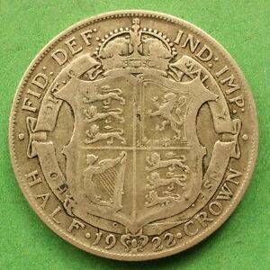 1922 George V Silver Half-Crown SNo32220