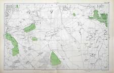 LONDON - WEST WICKHAM, ADDINGTON, SHIRLEY, Antique Street Map - Bacon 1912.