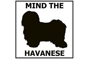 Mind the Havanese - Gate/Door Ceramic Tile Sign