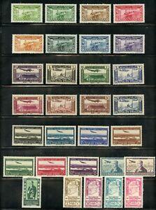 Weeda Syria C72-C87, C89-C102 MH/MNH 1937-1943 sets CV $77.30