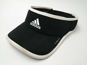 Adidas Climalite Visor Hat Sun Cap Black Jogging Running Outdoor Golf