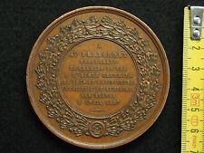 MEDAILLE CUIVRE CAQUE.F. 1857 à Auguste PERDONNET Prof. des CHEMINS DE FER  68mm