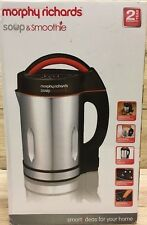 Morphy Richards Soup And Smoothie Maker 1.6Litre Stainless Steel/Black FREE POST