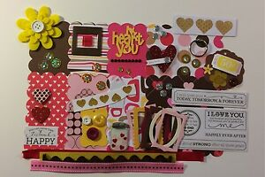 I Heart You Love Custom Chipboard Mini Book Album DIY Kit (Scrapbook)