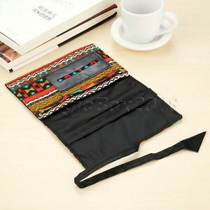 Ethnic Style For Tobacco Roll Up Strap Closure Container Storage Cigarette Pouch
