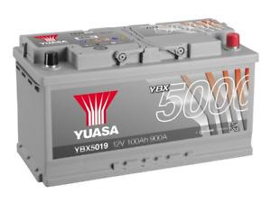 YUASA Car Battery YBX5019 Calcium Silver Case SMF SOCI 12V 900CCA 100Ah EA1000
