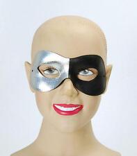 Silver Black Eye Mask Superhero Venetian Masquerade Ball Halloween Fancy Dress