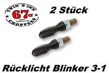 LED Rücklicht Blinker 3-1 SPARK Mini nur 25mm!!! getönt 2 Stück Custom Harley