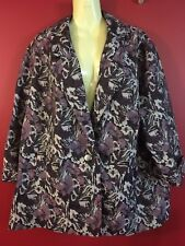 LANE BRYANT Women's Purple Blend One Button Jacket - Size 22/24 - NWT $99.95