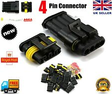 10Set Car 4 Pin Way Superseal Waterproof Electrical Terminal Wire Connector Plug
