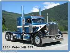 1984 Peterbilt 359 Semi Truck Refrigerator / Tool Box  Magnet