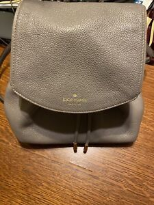 Kate Spade Gray Leather Mini Backpack