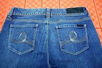 Seven7 Womens Boot Cut Jeans Size 10 32X31  Low Rise Stretch Thick Stitch