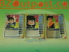 DRAGON BALL Z DBZ Capsule Corp Power Pack Bardock 1-3 foil promo personality