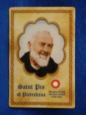 Pio of Pietrelcina  3rd class relic card