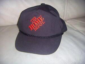 Vintage 90's Home Depot Black Hat Cap Rope - OTTO