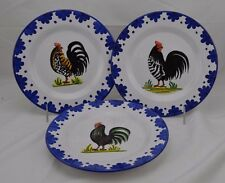 """Made in Italy William Sonoma Chicken with Blue Trim Set of 3 8 5/8"""""""