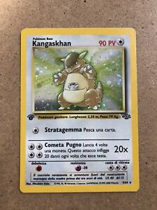1st Edition Kangaskhan 5/64 Italian Holo Rare Jungle Pokemon Card