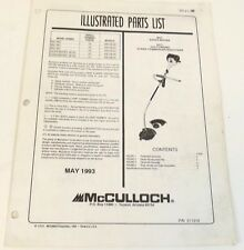 McCulloch Part List Pro MAC Silver Eagle Gas Curved String Trimmer Brush 32cc