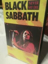 Black Sabbath/Vhs Tape/Never Say Die/Recorded Live 1978/Castle Recordings