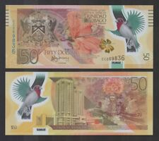 TRINIDAD: P54 50 Dollars 2014 Commemorative 50 years of Central Bank CC  UNC